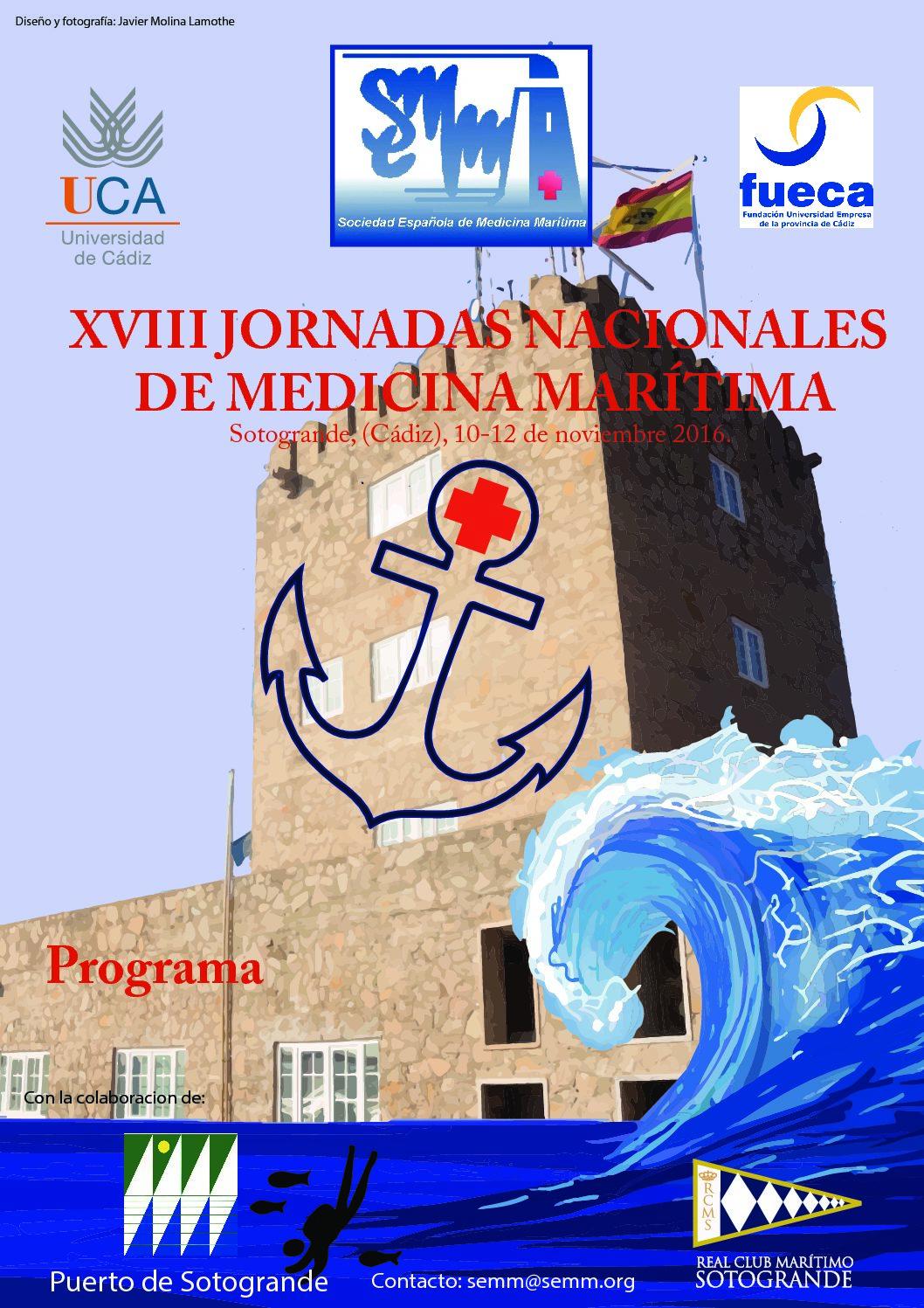 XVIII Jornadas de Medicina Marítima- Sotogrande (Cádiz)2016
